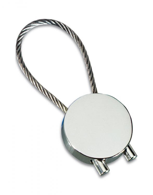 Round Cable Keyring Shiny - Click Image to Close