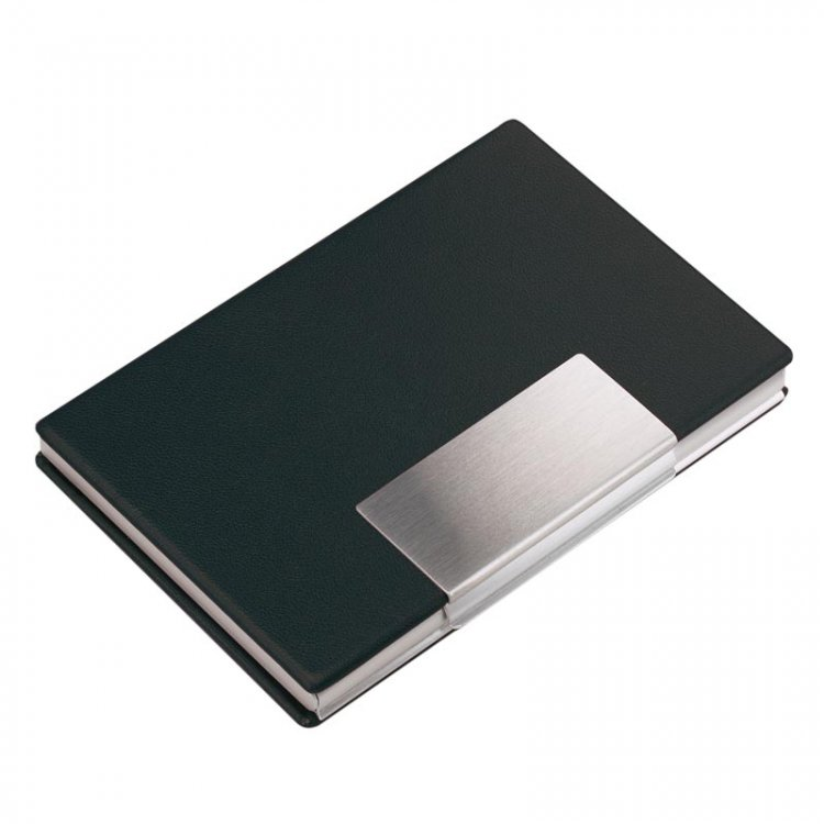 Aluminium Card Case with Vinyl Cover Style B - Click Image to Close