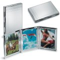 Silver Plated Triple Frame Photo Mount (40x60mm)